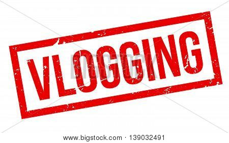 Vlogging Rubber Stamp
