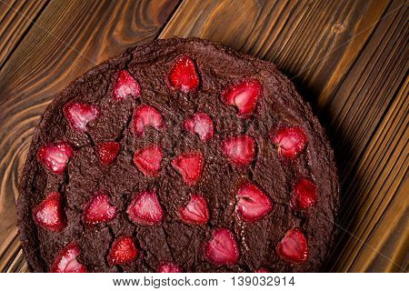 Homemade Vegan Millet Strawberry Brownie