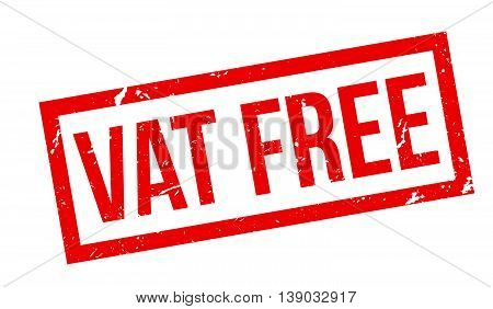 Vat Free Rubber Stamp