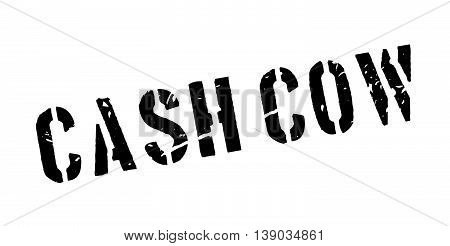 Cash Cow Rubber Stamp