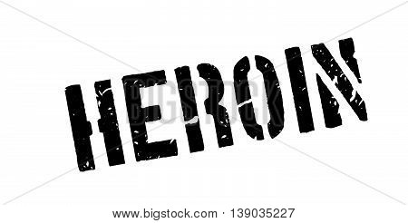Heroin Rubber Stamp