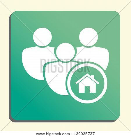 User Home Icon In Vector Format. Premium Quality User Home Symbol. Web Graphic User Home Sign On Gre
