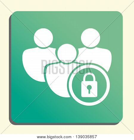 User Lock Icon In Vector Format. Premium Quality User Lock Symbol. Web Graphic User Lock Sign On Gre