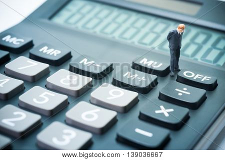 Business Startup Calculating Concept.
