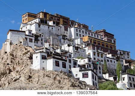 Thiksey Monastery Leh-Ladakh Jammu and Kashmir India. Thiksey is one of the Picturesque monasteries of Ladakh about 20 kms fro Leh.