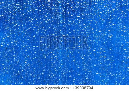 Natural blue water drop background Natural blue water drop background