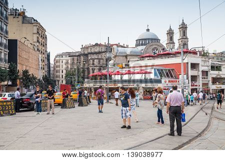 Ordinary People Walk On Taksim Square