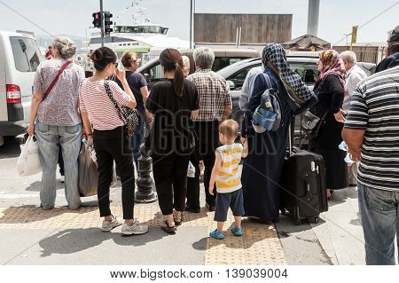Ordinary People In Istanbul, Turkey