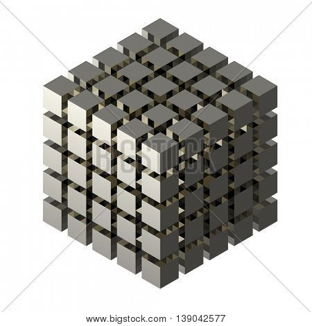 abstract cubes 3d render