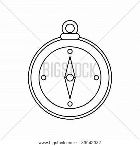 Compass icon in outline style. Travel black icon isolated vector illustration