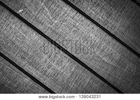 black and white tone of wood background texture, low key