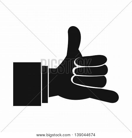 Call me gesture icon in simple style isolated vector illustration