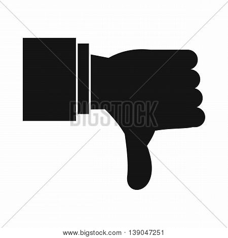 Thumb down gesture icon in simple style isolated vector illustration