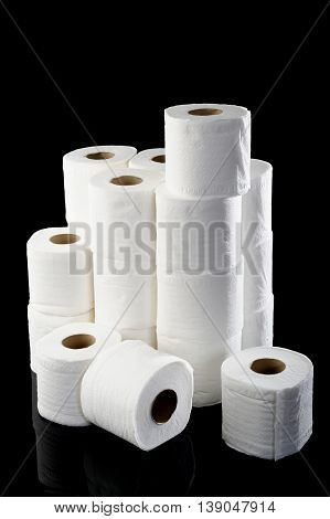 toilet soft paper roll at on background