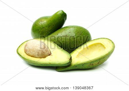 Avocado flesh is creamy, it looks yellowish green. Rich in vitamin E. Fruit is healthy.