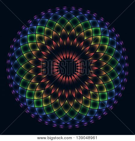 Sacred geometry. Symbol of balance and harmony. Vector illustration