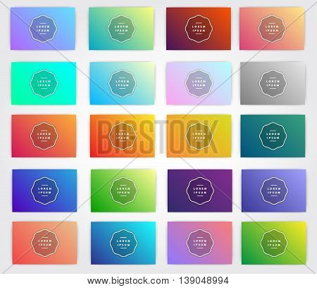 Gradients for designers and developers. This is vector illustration ideal for invitation background business card menu shop packages wrapping paper and web elements. Gradient background kit