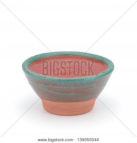 Sriracha Hot Chilli Sauce In A Clay Sauce-boat Isolated On White Background