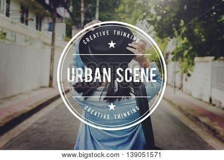 Urban Scene Leisure Travel City Life Concept