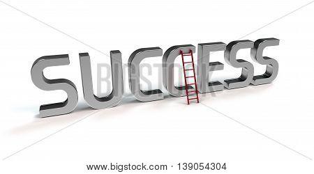 ladder of success - symbolic 3D rendering