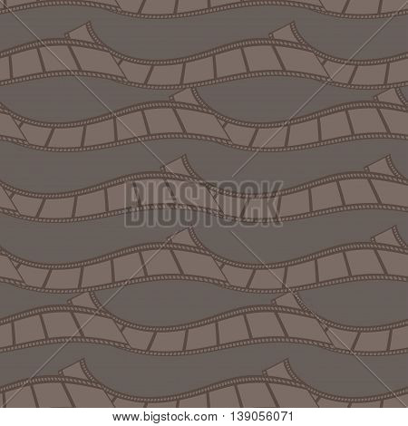 Seamless Pattern Of Abstract Film Strips. Vector Illustration Background