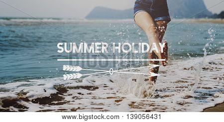 Summer Vacation Holiday Beach Sunny Concept