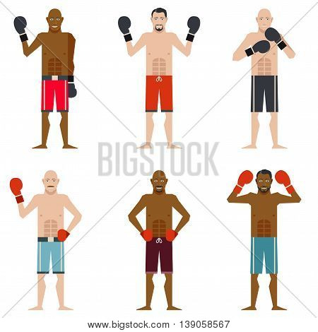 Vector image of the set of Boxers