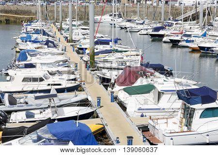 Marina in Saint Peter Port on Guernsey island, UK