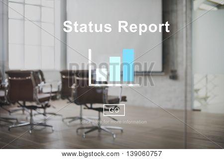 Status Report Result Economy Statistic Concept