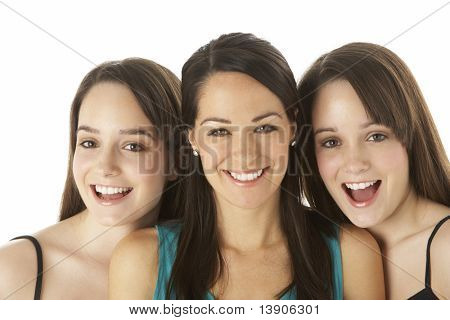 Studio Portrait Of Three Young Women