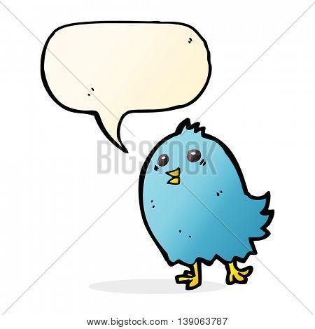 cartoon bluebird with speech bubble
