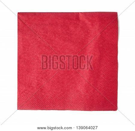 Red Paper Napkin