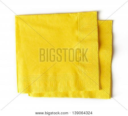 Yellow Paper Napkins