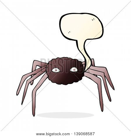 cartoon spider with speech bubble
