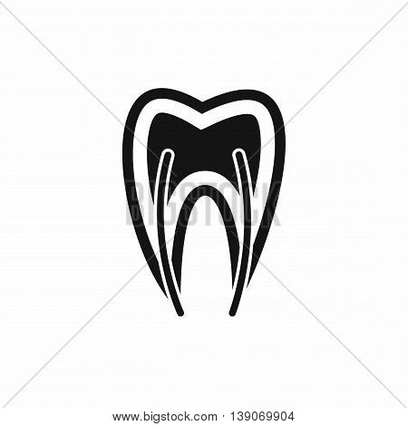 Tooth cross section icon in simple style isolated vector illustration