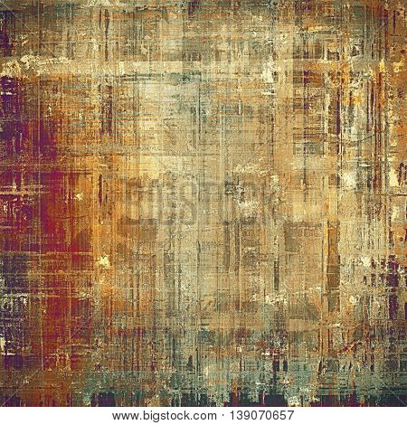 Abstract faded retro background or shabby texture with vintage style design and different color patterns: yellow (beige); brown; gray; green; red (orange); purple (violet)
