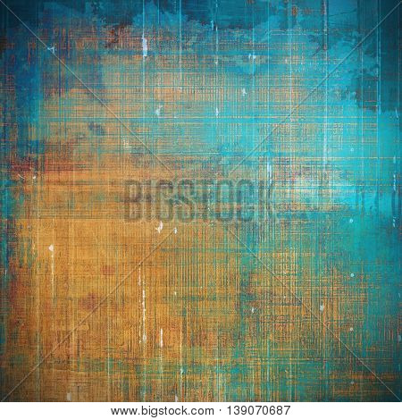 Abstract retro design composition. Stylish grunge background or texture with different color patterns: yellow (beige); brown; blue; red (orange); cyan