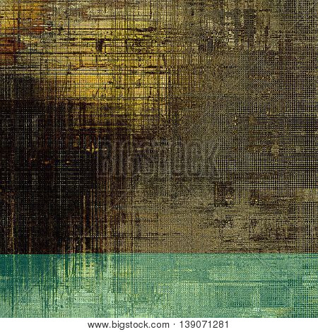 Vintage design background - Grungy style ancient texture with different color patterns: yellow (beige); brown; gray; black