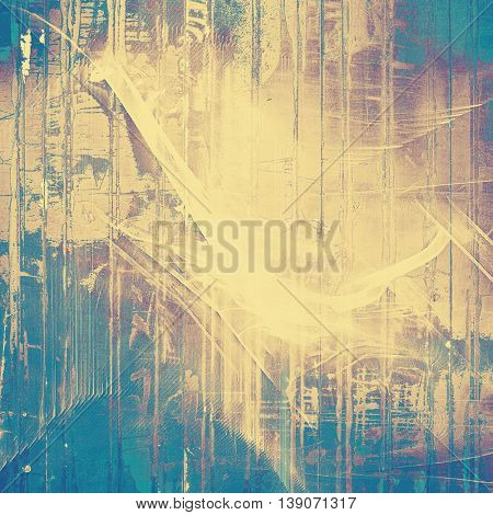 Highly detailed scratched texture, aged grungy background. Vintage style composition with different color patterns: yellow (beige); brown; gray; blue; purple (violet)