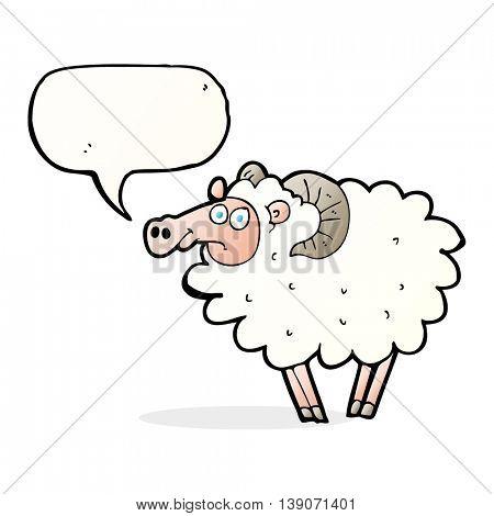 cartoon ram with speech bubble