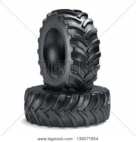 Tractor Tyres Isolated