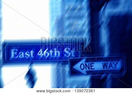 an image of one way sign
