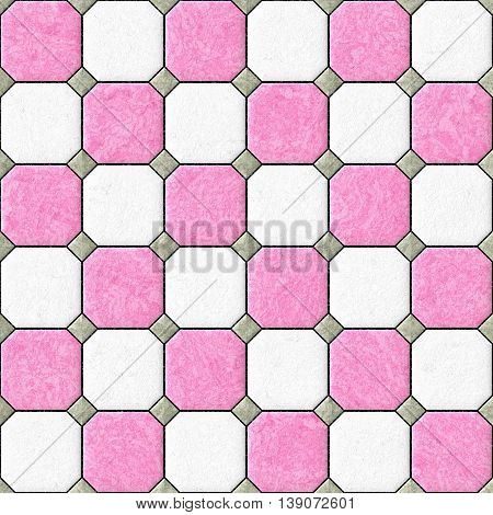 pink white gray floor tiles seamles pattern texture background