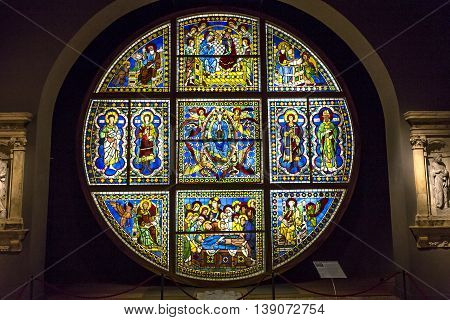 Window Details Of Siena Cathedral, Siena, Italy