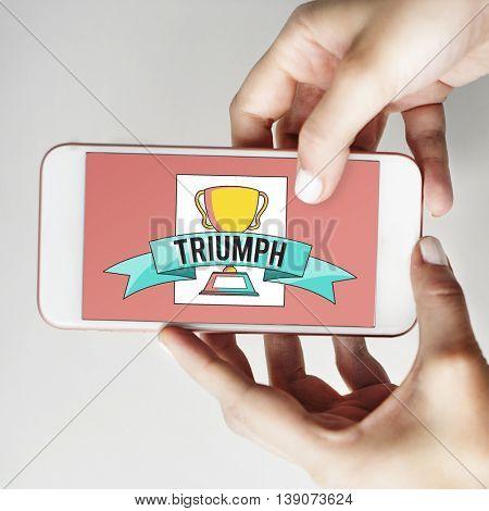 Triumph Success Determination Achievement Concept