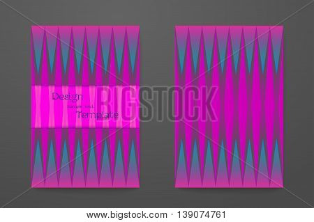 Abstract elegant pattern for booklet layout. Flyer template set invitation collection vector design business card with trendy colors.