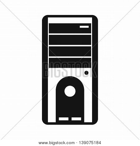 Computer system unit icon in simple style isolated vector illustration