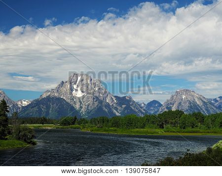 Grand Teton National Park Mountains over Water
