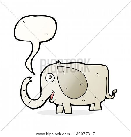 cartoon baby elephant with speech bubble