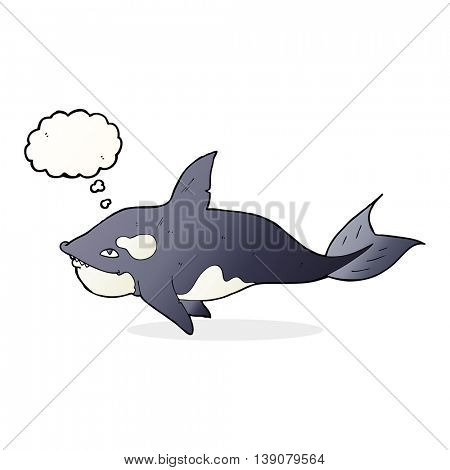 cartoon killer whale with thought bubble
